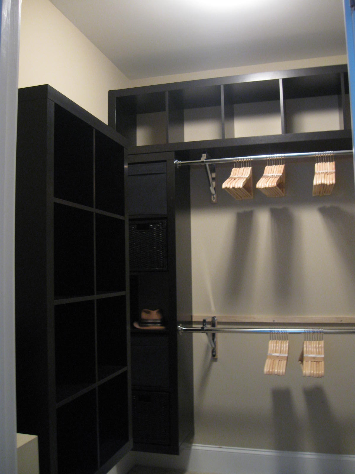 Stunning Black Painted Ash Furniture Design And Room Decoration  With Black Closet Door