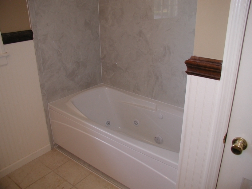 Stunning Cultured Marble Showers With Bathtub Combo And Bathroom Tile Flooring Pic