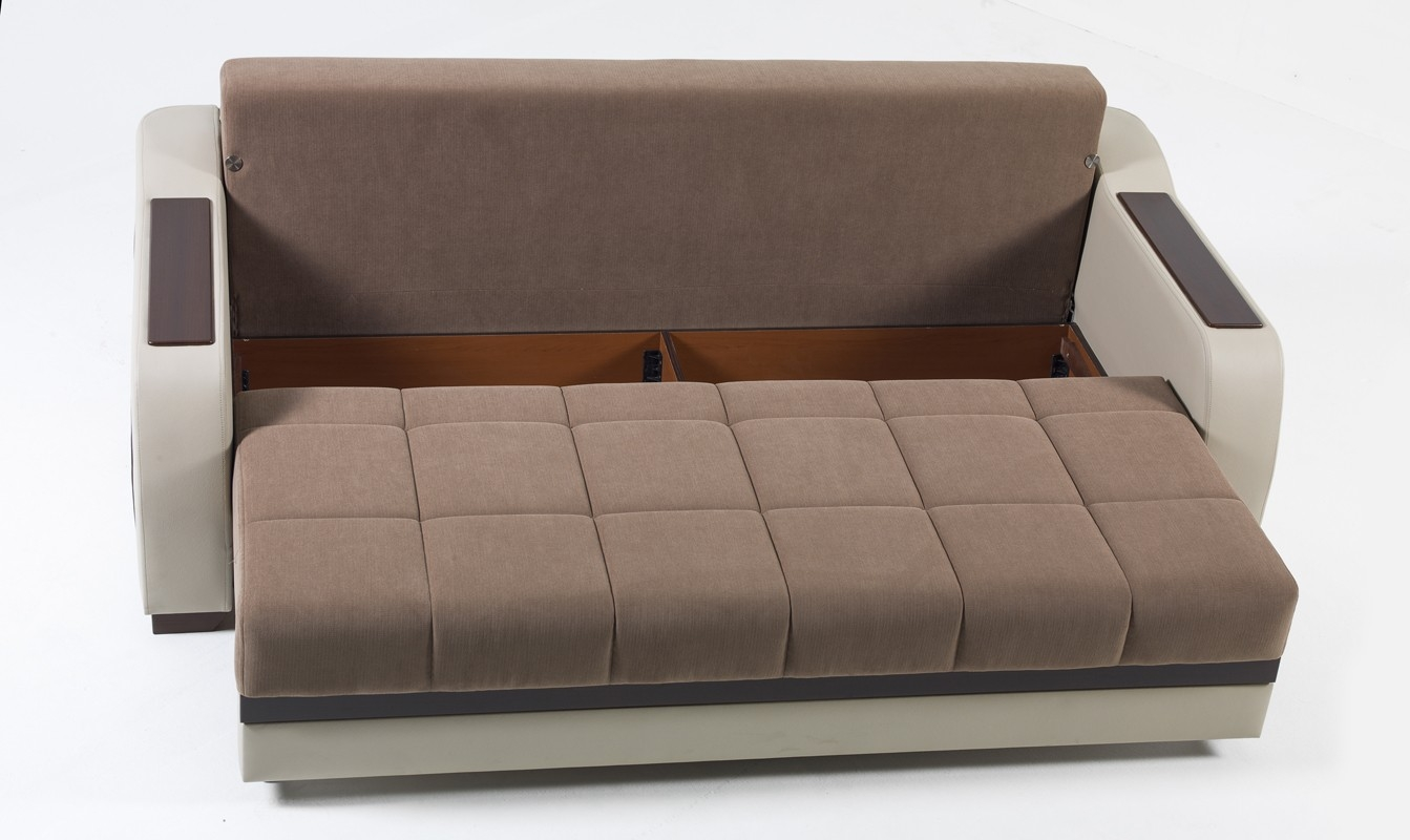 Stunning Sofa Sleeper With Storage Within Modern Brown Ultra Sofa Bed With Storage
