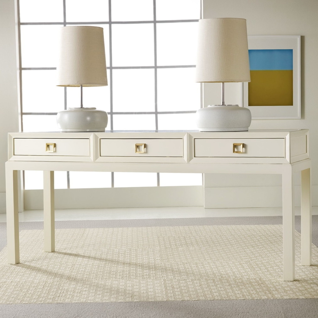 Stylish White Lacquer Console Table Regarding Perfect Design For Your Home