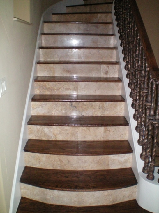 Tile On Stair Risers Natural Stone Stair Case Pictures