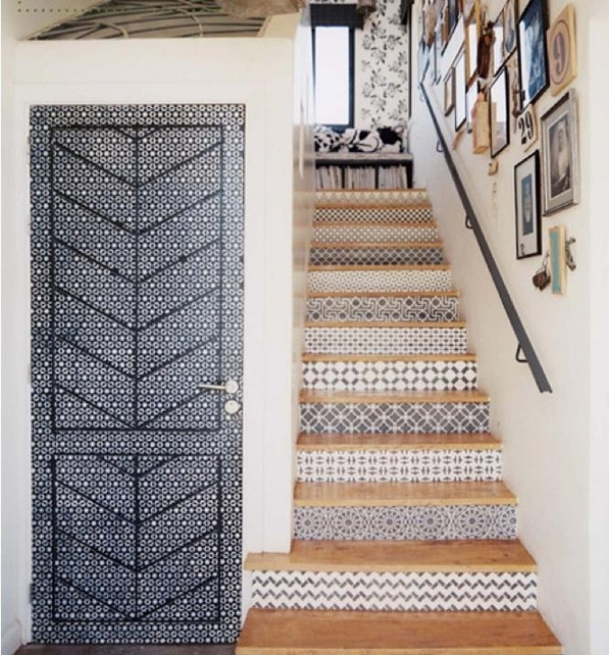 Tile On Stair Risers Spanish Style Images
