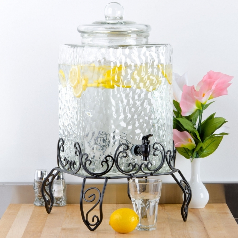 Wonderful Glass Drinks Dispenser Large With Spigot Pic