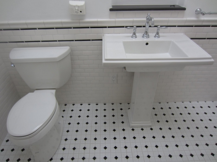 Amazing Small Bathroom Remodeling Subway Tile With Black And White San Diego Roofer And General Contractor Vintage Subway Tile Picture