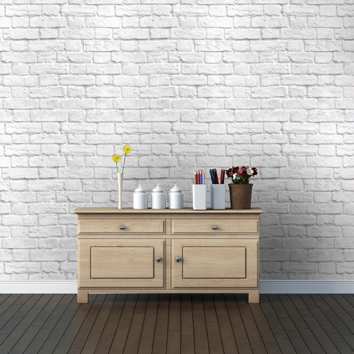 Amazing White Brick Wallpaper Bedroom In  From Watts London Made Pic