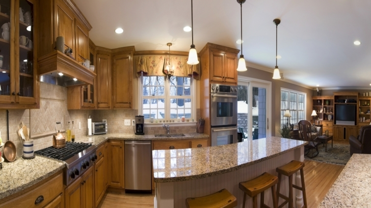 Attractive Floating Kitchen Island With Seating In Countertops And Backsplash Kitchen Islands Pic
