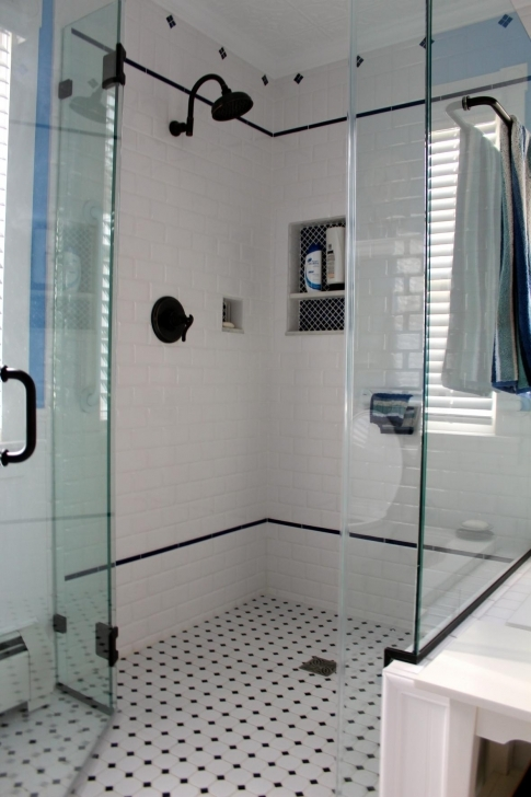 Awesome Small Bathroom Remodeling Subway Tile With Regard To Shower Combined Glass Wall Separated Design Photo