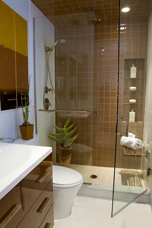 Awesome Small Bathroom Remodeling Subway Tile Within Powder Bathroom Design With Brown Subway Tiles Pics