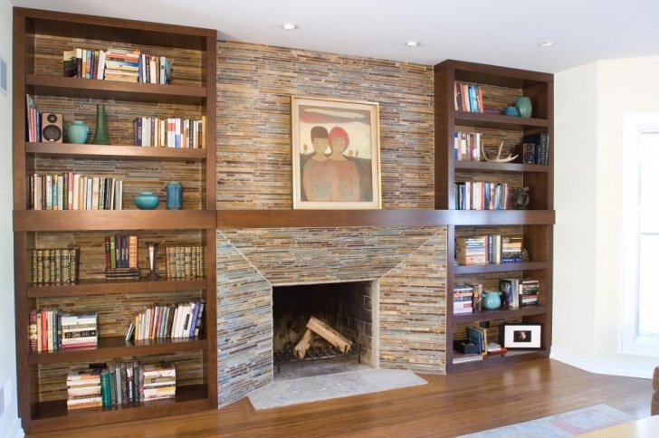 Beautiful Built In Bookshelves Around Fireplace Inside Innovative Built In Bookshelves Beside Fireplace Images