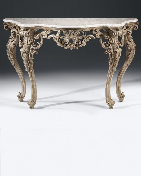 Beautiful Console Table French Style With Regard To Carved Photos