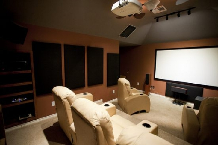 Brilliant Home Theater Seating Design Ideas With Home Improvement Photos