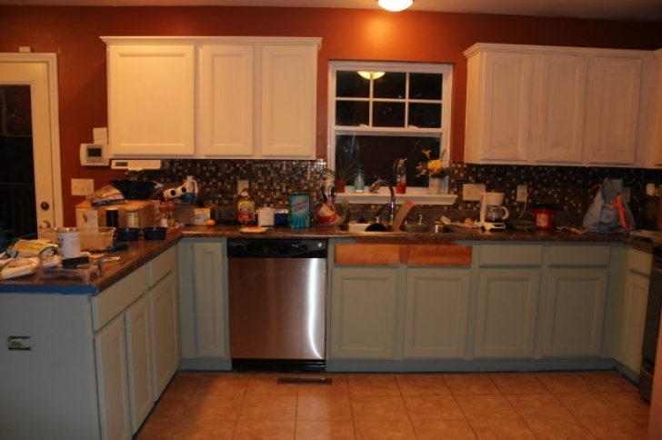 Chalk Paint Kitchen Cabinets Regarding Country Chic Kitchen Cabinets A Lovely Place To Land Pic