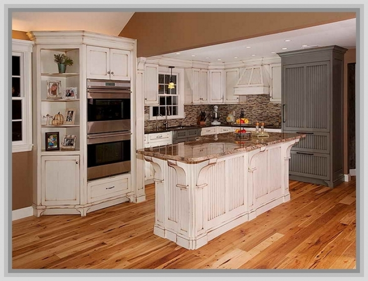 Chalk Paint Kitchen Cabinets Regarding Painting Kitchen Cabinets White Distressed  Pic