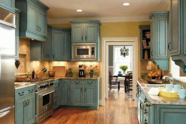 Chalk Paint Kitchen Cabinets Regarding Tips To Get The Best Result Images