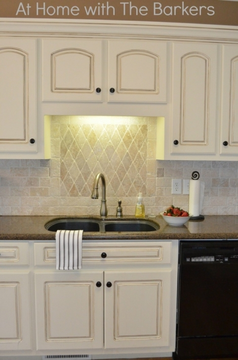 Chalk Paint Kitchen Cabinets Throughout Painted Kitchen Cabinets At Home With The Barkers Picture