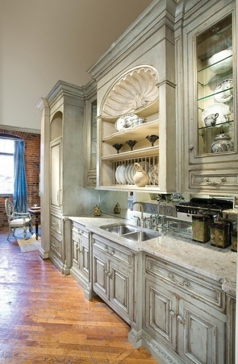 Chalk Paint Kitchen Cabinets With Regard To Chalk Paint Vs Milk Paint What's The Difference Decorated Life Pictures