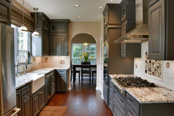 Chalk Paint Kitchen Cabinets Within Painting Cabinets With Chalk Paint  Photo
