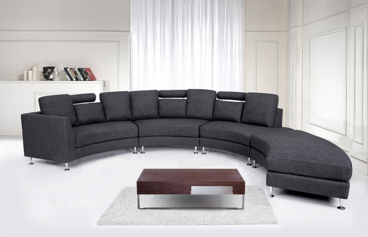 Curved Sectional Sofa Living Room Furniture With Awesome Ultra Modern Black Wood Low Square Coffee Table Picture