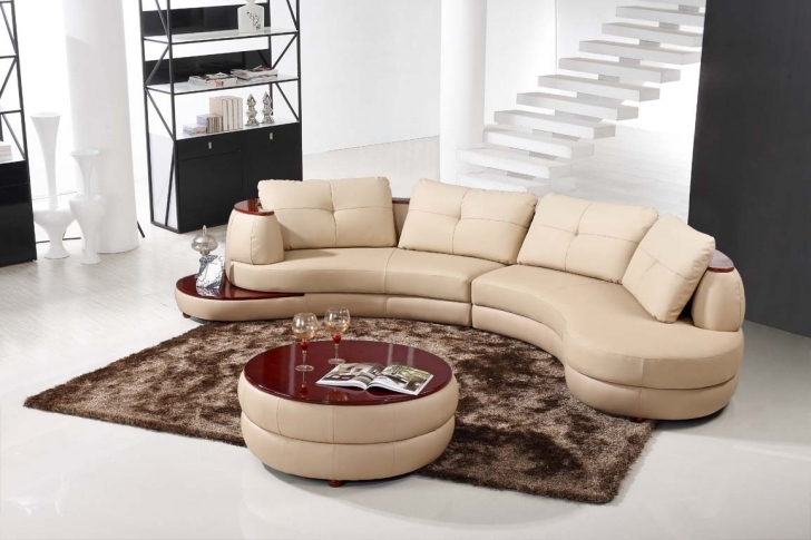Curved Sectional Sofa Living Room Inside Marvelous Modern Small Leather Sofa With Red Round Table Coffee Images