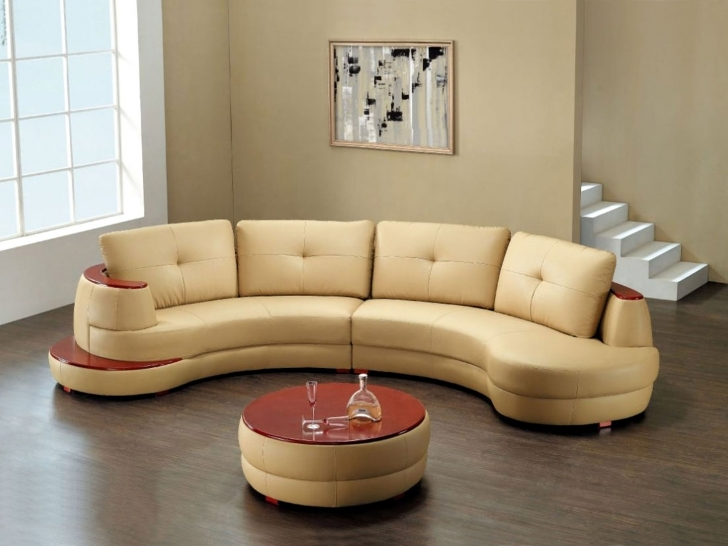 Curved Sectional Sofa Living Room With Stunning Couches Design With Small Round Coffee Table Combination Pics