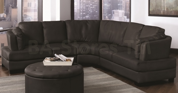 Curved Sectional Sofa Slipcovers Living Room With Amazing Landen Contemporary Black Leather Image