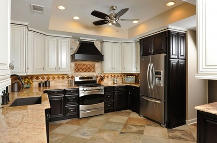 Custom Kitchen Cabinets Regarding Gorgeous Black Cabinetry With Granite Countertop Also Drawers And Lockers Storages Photos