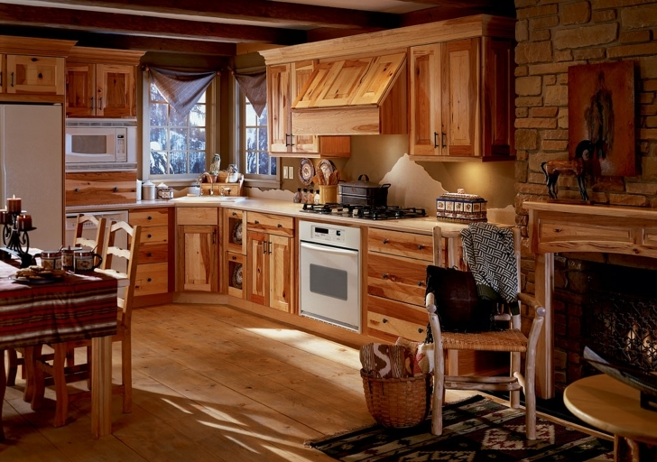 Custom Kitchen Cabinets Throughout Fantastic Custom Wall Mounted Plate Shelves Cabinets With Handmade Range Hood Pictures