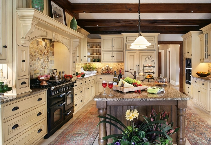 Custom Kitchen Cabinets Within Extraordinary Traditional Kitchen Photos