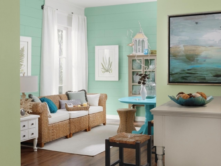Delightful Sherwin Williams Paint Colors Family Room Inside Coastal Living Room Mint Cream Accents Pics