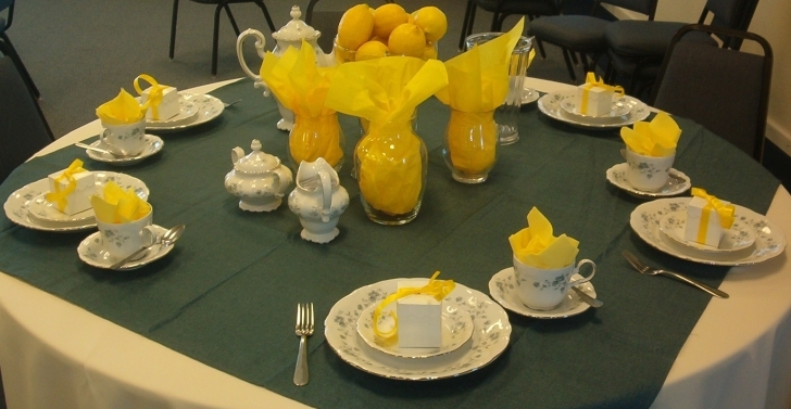Dining Room Table Centerpieces With Fascinating Yellow Color Scheme  Picture