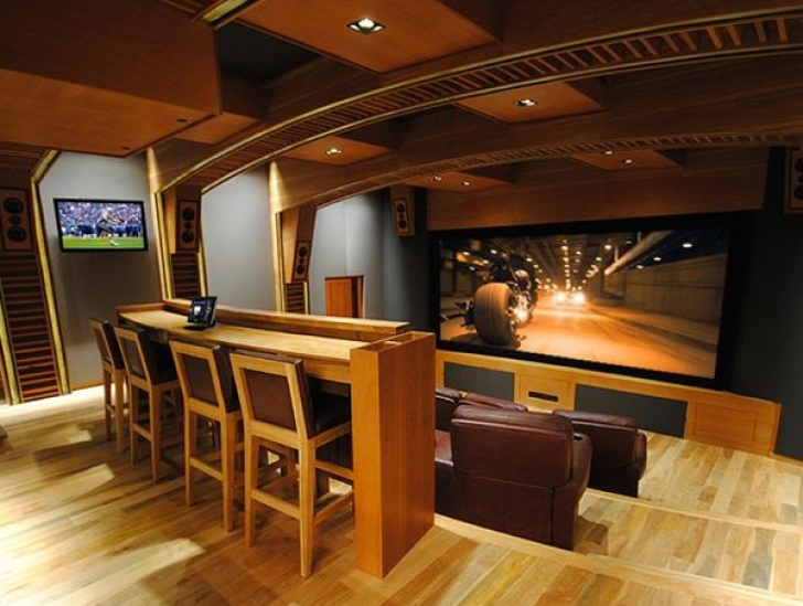 Excellent Home Theater Seating Design Ideas Within Inspiring Wooden Furniture Photo