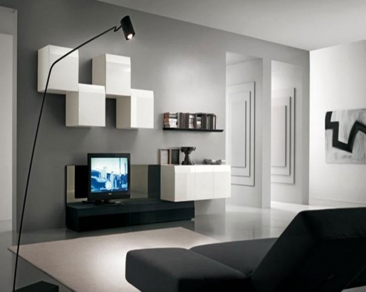 Fascinating Gray Paint Colors For Living Room In Gray Fitted Carpet Beige Room Walls And Black Sofa Also Cabinet Tv Table Pictures