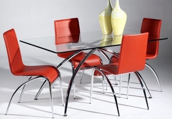 Glass Kitchen Tables For Small Spaces Inside Amazing  Curved Legs Design Ideas Pictures