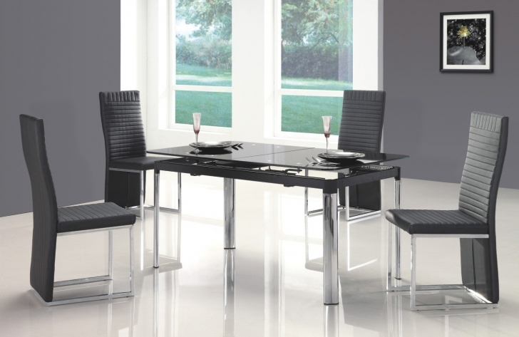 Glass Kitchen Tables For Small Spaces Regarding Delightful Contemporary Ideas With Comfortable Chair Image