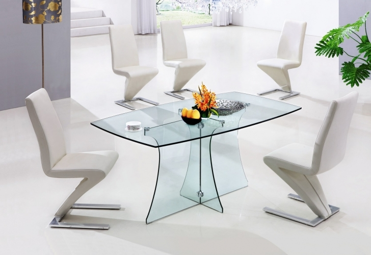 Glass Kitchen Tables For Small Spaces Regarding Outstanding Glass Design By Suprin Decoration Pics