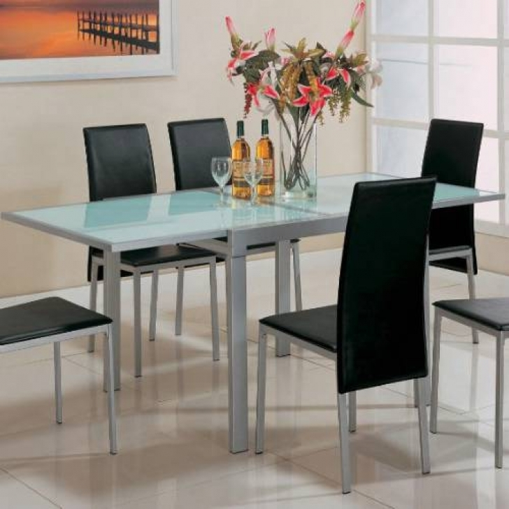 Glass Kitchen Tables For Small Spaces With Classy Simply Design Ideas Photo