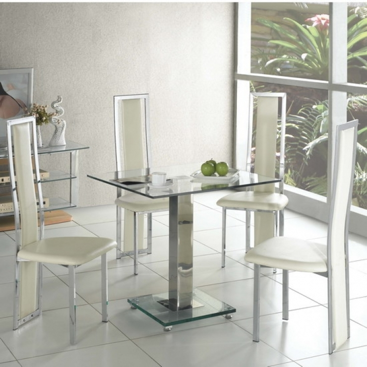 Glass Kitchen Tables For Small Spaces With Cozy Accent For Kitchen And Top Furniture Image
