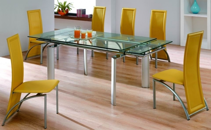 Glass Kitchen Tables For Small Spaces With Stylish Dining Table Extension Furniture  Image