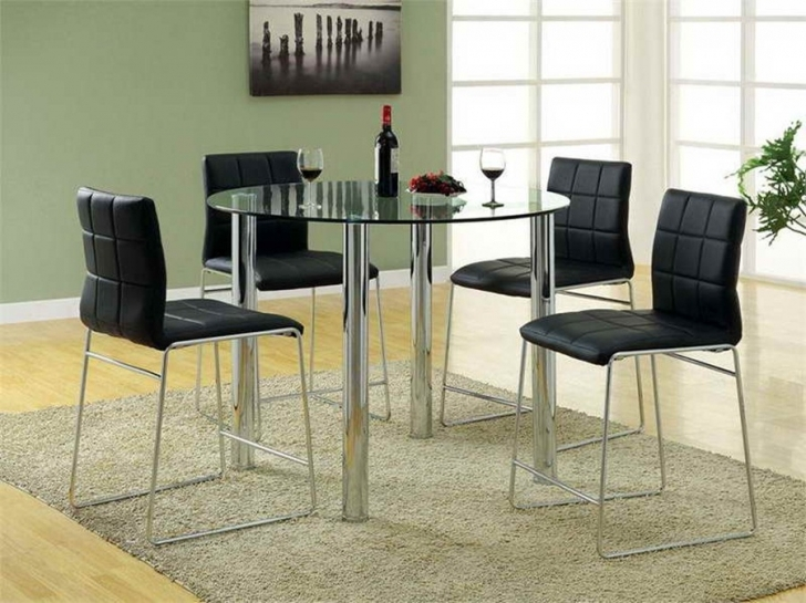 Glass Kitchen Tables For Small Spaces With Wonderful Round Design Furniture And Interior Ideas Photos