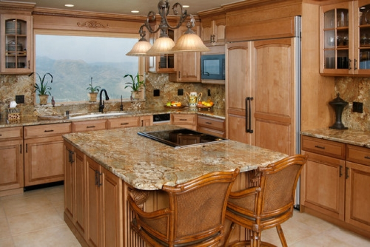 Golden Crystal Granite Countertops Slab Ideas 3673