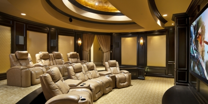 Gorgeous Home Theater Seating Design Ideas With Brilliant Design Ideas Image