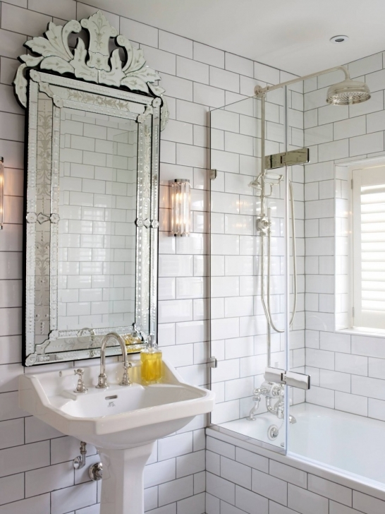 Inspiring Small Bathroom Remodeling Subway Tile Inside Bathtub Design Mirrored And White Wall Paint Color Pictures