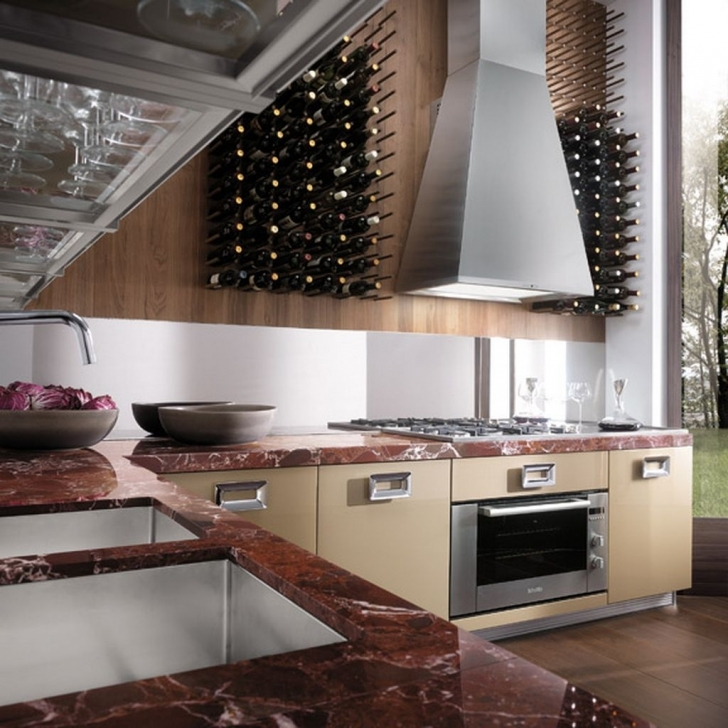 Italian Kitchen Design With Regard To Classy Contemporary Italian Kitchen Decorating With Extra Cabinet Images