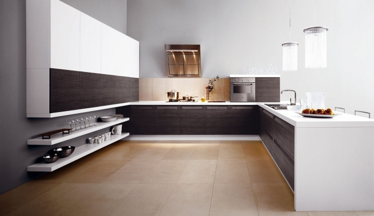 Italian Kitchen Design With Regard To Fantastic Modern Simple And Spacious Kitchen Picture