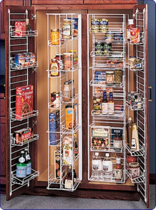 Kitchen Pantry Cabinet Ideas Regarding Kitchen Cupboard With Food Pantry Designs Photos