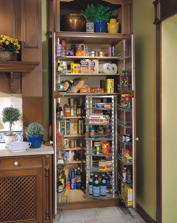 Kitchen Pantry Cabinet Ideas With Regard To Beautiful Brown Kitchen Pantry Cabinet Design Pictures