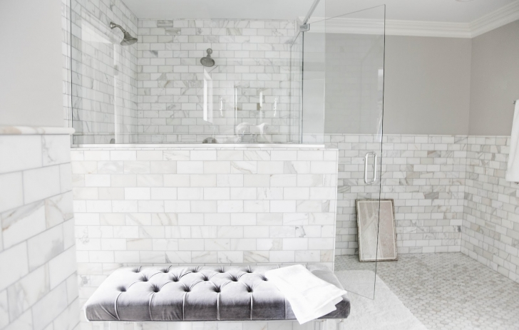 Marvelous Small Bathroom Remodeling Subway Tile In Decorating Ideas White Marble Picture