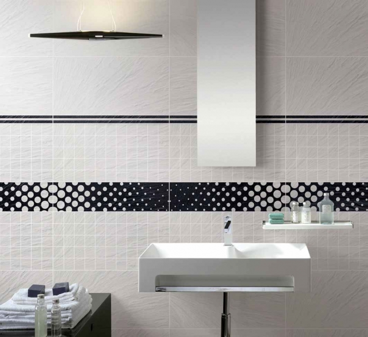 Marvelous Small Bathroom Remodeling Subway Tile Within White Washbasin Complete With Long Vertical Mirror And Cabinet Table With Towels Images