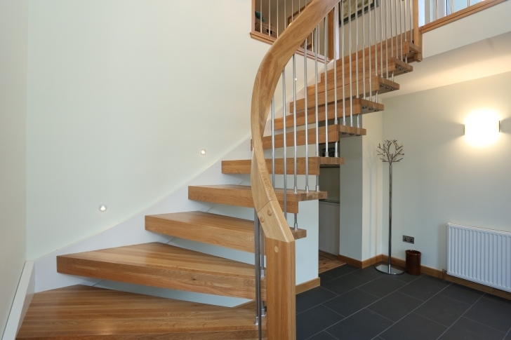 Oak Staircase Design Creative Photo