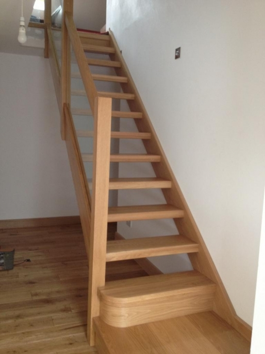 Oak Staircase Design Floating Oak Wood With Wooden Glass Staircase Balustrade Photo